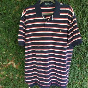 Polo Ralph Lauren Polo Shirt Navy & Pink XXL